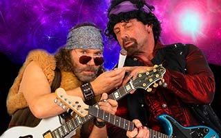 Sänger und Gitarrist mit Gitarren