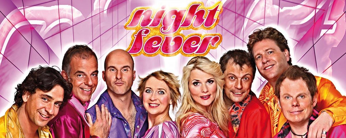 Titelbild der Partyband Coverband Night Fever, 70er Jahre Discoshow